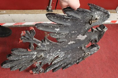 Lot 87 - A cast metal Barclays Bank eagle, h.70cm