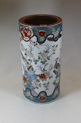 Lot 88 - A reproduction stickstand, enamel decorated...