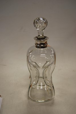 Lot 57 - A George V decanter, of hourglass form, having...
