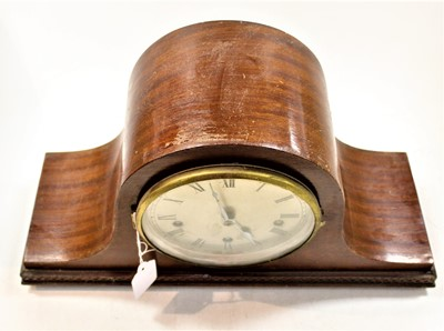 Lot 60 - A 1920s mahogany cased mantel clock, having a...