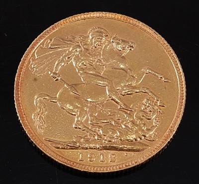 Lot 2047 - Great Britain, 1912 gold full sovereign,...