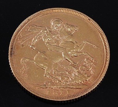 Lot 2051 - Great Britain, 1871 gold full sovereign,...