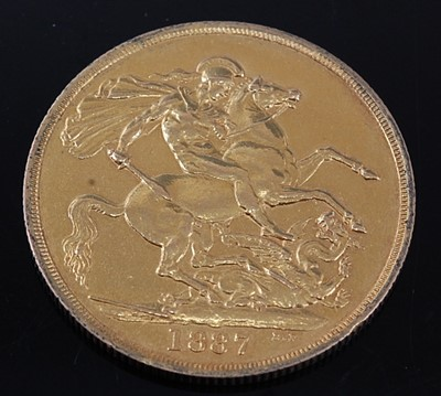 Lot 2078 - Great Britain, 1887 gold two pound coin,...