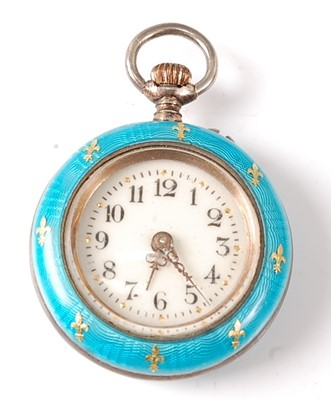 Lot 2670 - A white metal lady's manual wind fob watch...
