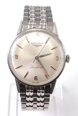 Lot 2671 - A Gent's stainless steel Longines Jamboree...