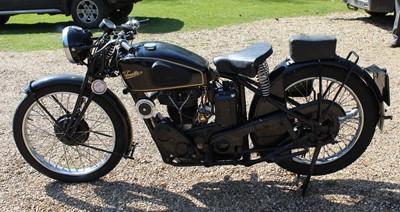 Lot A 1937 Velocette KSS 350cc, registration No....