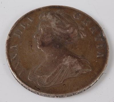 Lot 2183 - England, 1707 crown, Queen Anne draped bust,...
