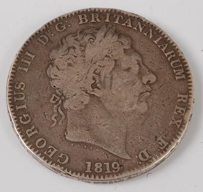 Lot 2184 - Great Britain, 1819 crown, George III laureate...