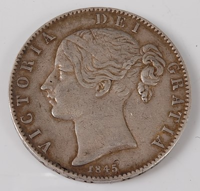 Lot 2185 - Great Britain, 1845 crown, Victoria young bust...