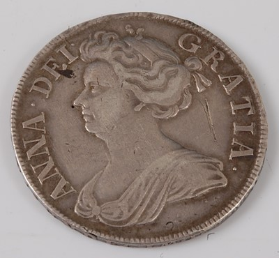Lot 2188 - England, 1712 half crown, Queen Anne draped...
