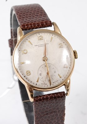 Lot 2687 - A gent's 9ct gold cased wristwatch by...