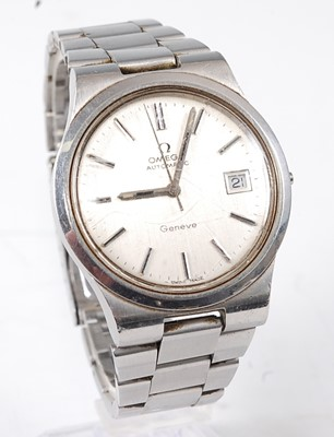Lot 2690 - A gent's Omega Geneve steel cased automatic...