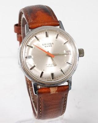 Lot 2691 - A gent's Oriosa steel cased wristwatch, having...