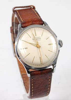 Lot 2692 - A gent's Junghans Trilastic steel cased...