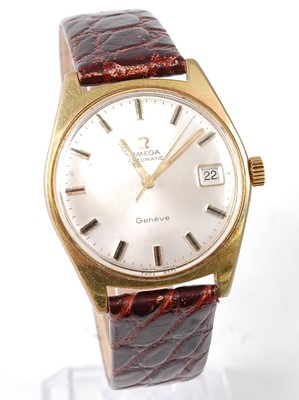 Lot 2642 - A gent's Omega Geneve gold plated automatic...