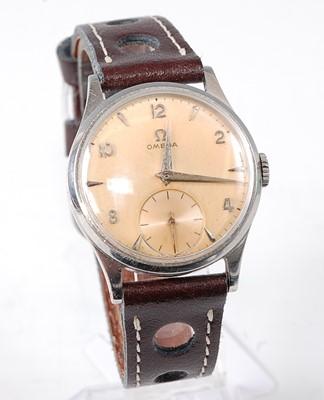 Lot 2649 - A gent's Omega steel cased wristwatch, having...