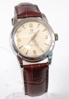 Lot 2650 - A gent's steel cased Omega Seamaster...