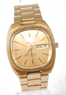 Lot 2654 - A gent's gold plated Omega Seamaster automatic...