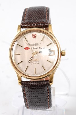 Lot 2655 - A gent's gold plated Omega Constellation...