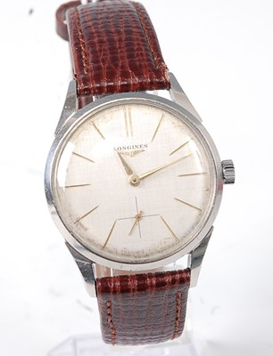 Lot 2656 - A gent's Longines steel cased wristwatch,...
