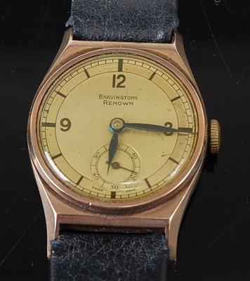 Lot 2660 - A vintage gent's Bravingtons Renown 9ct gold...