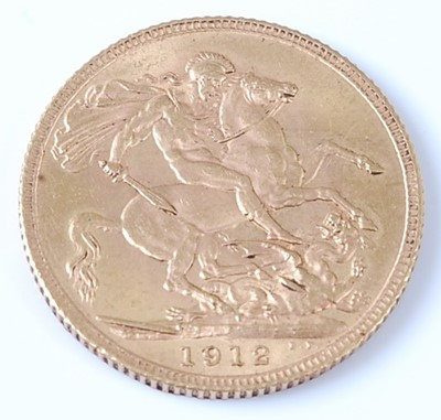 Lot 2058 - Great Britain, 1912 gold full sovereign,...