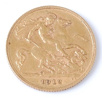 Lot 2060 - Great Britain, 1912 gold half sovereign,...