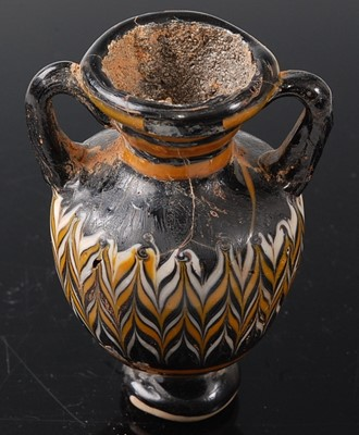 Lot An Amphora type pottery vase, having twin...