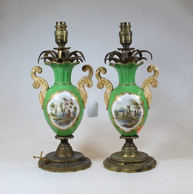 Lot 19 - A pair of early 20th century porcelain and...