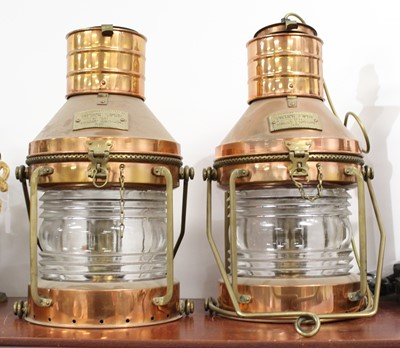 Lot 20 - A pair of early 20th century copper and brass...