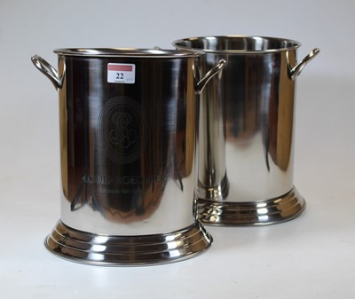 Lot 22 - A pair of reproduction plated champagne...