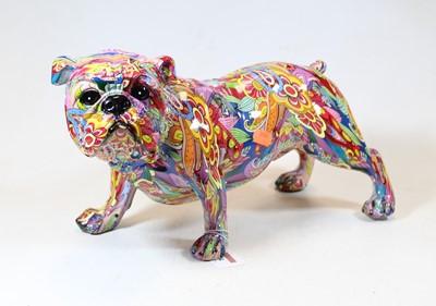 Lot 24 - A modern composition model of a bulldog,...