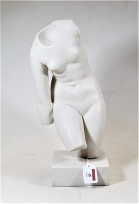 Lot 45 - A 20th century composition model of female...