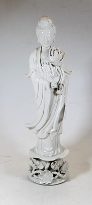 Lot 47 - A large Chinese blanc de chine figure of...