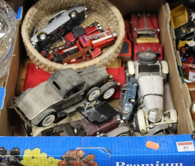 Lot 83 - A box containing various diecast and plastic...