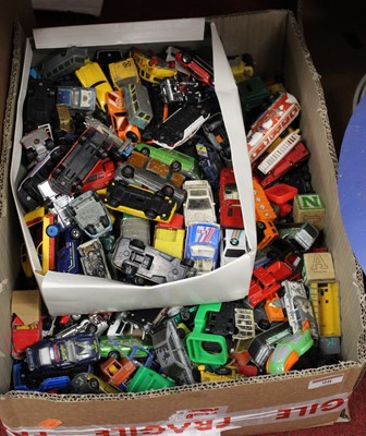 Lot 98 - A box containing a large collection of diecast...
