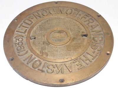 Lot 21 - Railway interest? bronze plate, Francis...