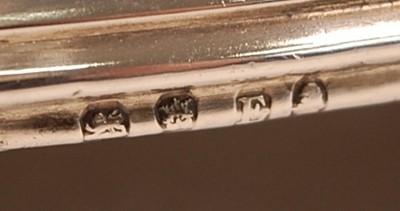 Lot 3052 - A George III silver five-bottle cruet, of oval...