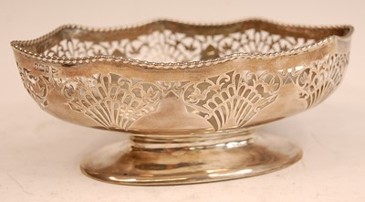Lot 3059 - A Walker & Hall silver footed bowl,of shaped...