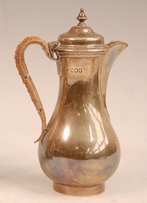 Lot 3057 - An Edwardian silver bachelors coffee pot, of...