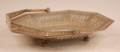 Lot 3058 - A late Victorian silver table basket,of...