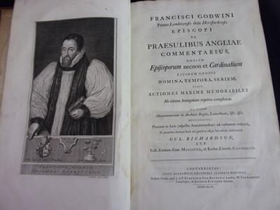 Lot 3002 - GODWIN, Francis. Praesulibus Angliae…....