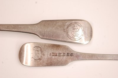 Lot 3066 - A George IV silver harlequin part cutlery...