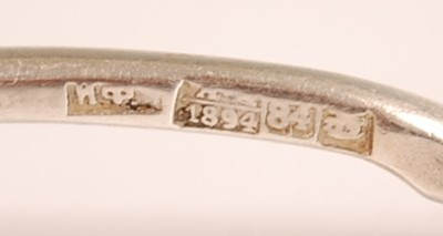 Lot 3068 - A Russian silver spoon, the reverse of the...