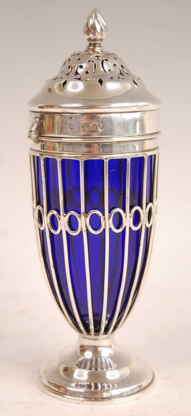 Lot 3070 - A late Victorian silver pedestal lighthouse...