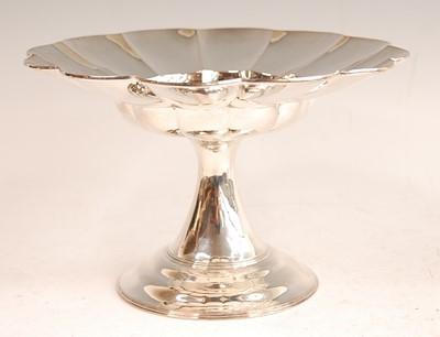 Lot 3071 - A silver pedestal comport,of shaped circular...