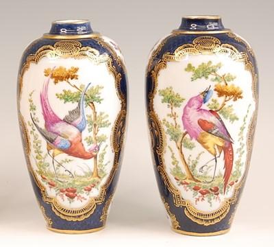 Lot 3035 - A pair of Paris porcelain vases after the...
