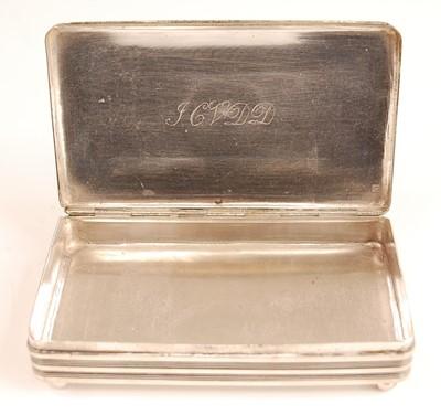Lot 3073 - A 19th century Dutch silver tobacco box,...