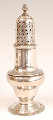 Lot 3075 - A George III silver pedestal lighthouse sugar...