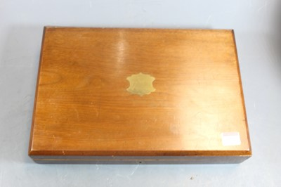 Lot 3076 - A late Victorian walnut cased canteen of...